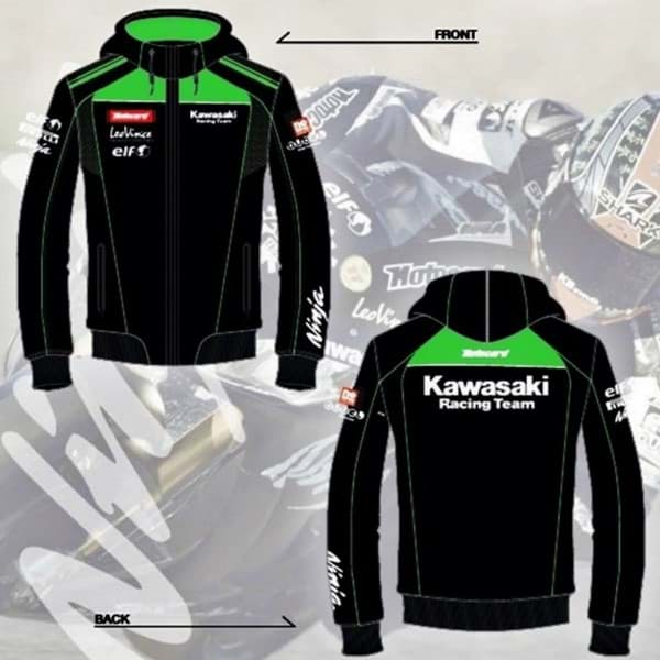 Picture of Kawasaki Herren KRT-Replica Kapuzen-Sweater